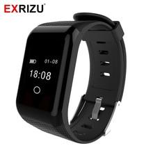 Exrizu 0.66 «oled Экран Bluetooth Smart Band IP67 шагомер Вибрация монитор сердечного ритма браслет кислорода метр браслет здоровья