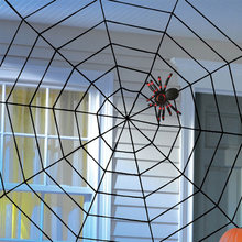 1pc preto/branco assustador novo enorme aranha web halloween decoração cobweb festa barra presente