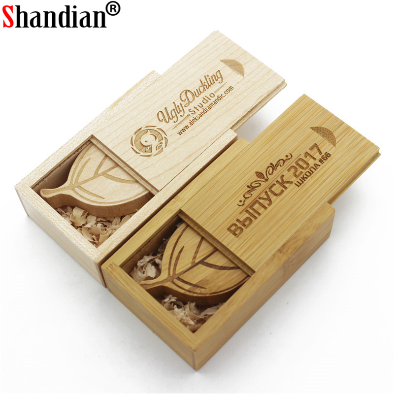 over 10 Pcs Free Logo Wooden Usb+box Usb Flash Drive Maple Wood Pendrive 8gb 16gb 32gb Pen Drive Memory Stick U Disk Search For Flights Shandian