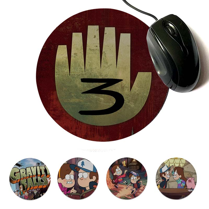 MaiYaCa Simple Design Gravity Falls Gamer Speed Mice Retail Small Rubber Mousepad 200x200mm 220x220mm Round Mouse Pad