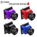 ใหม่ Foxeer Predator V4 Micro FPV กล้อง 16:9/4:3 PAL/NTSC switchable Super WDR OSD 4ms Latency อัพเกรด Foxeer Predator V3