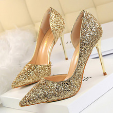 Women Bling Glitter High Heel Shoes