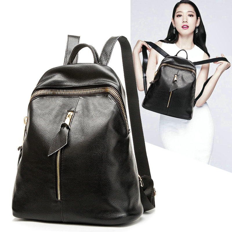 2017 Genuine Leather Women Backpack Hot High Quality Famous Brand Preppy Style String Women School Bag Girl Travel Bags miwind famous brand preppy style leather school backpack bag for college simple design travel leather backpack bags tlj1082