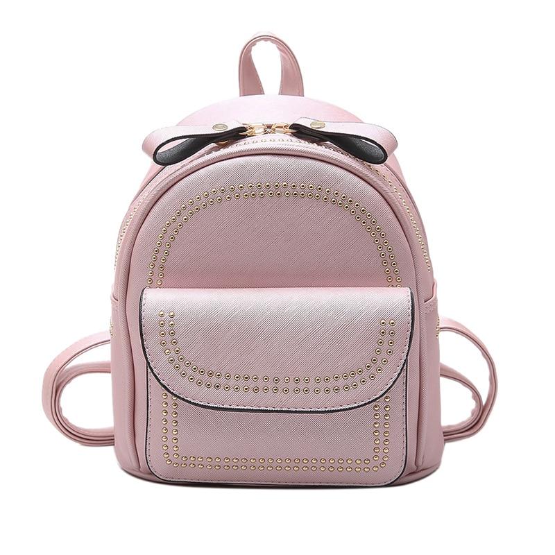 New Design Mini Rivets Backpack For Women Girls 2017 Children School Bag Women Backpack Mochila Escolar Female Rucksack (23)