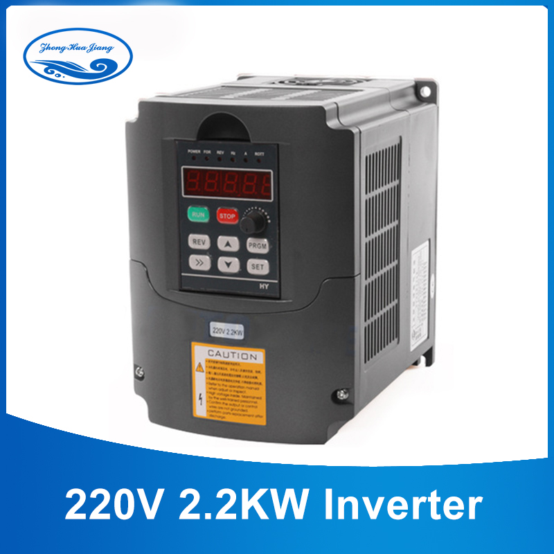 CNC motor spindle 2.2kw inversor de freqüência 220 v conversor ajustável 12 v 220 v inversor de freqüência Inversor VFD 1HP ou 3HP 3 Entrada