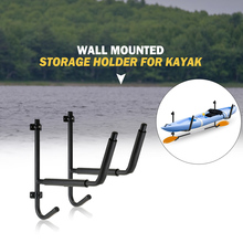 Heavy Duty Folding Wall Mounted Storage Holder for Kayak and Paddle Canoe Boat Steel Ladder Mount Rack