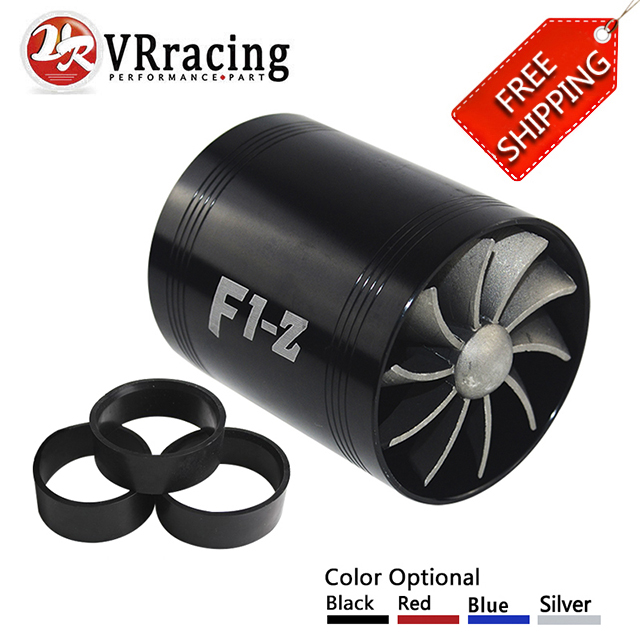 FREE SHIPPING F1-Z Double Supercharger Turbine Turbo Charger Air Intake Gas Fuel Saver Fan VR-FSD11 цена