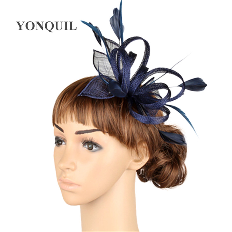 High quality multiple color sinamay fascinator headwear wedding hair accessories women millinery cocktail occasion hats MYQ005