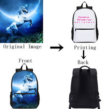 Customized Individual Image Name Logo Backpack For Boys Girls Bookbag Travel Backbag Laptop Backpack School Bag Mochila Escolar(China)
