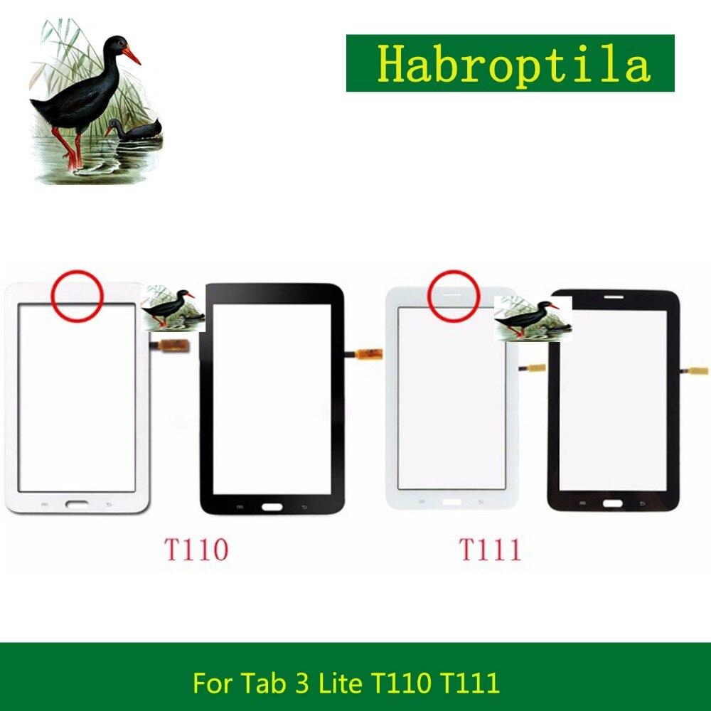 5 шт./лот 7,0 для samsung Galaxy Tab 3 Lite 7,0 SM-T110 SM-T111 T110 T111 Сенсорный экран планшета передняя внешний Стекло объектив Панель