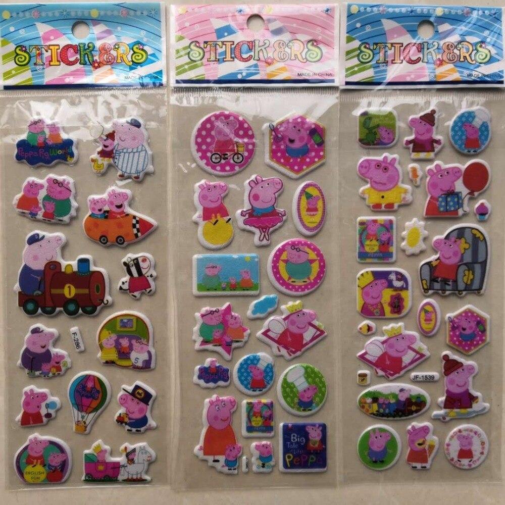 Folhas Diferentes 3D 3 Adesivos Bonito Dos Desenhos Animados Brinquedos Brinquedos Divertidos Para As Crianças Sobre A Página De Adesivos Autocolantes Laptop Telefone presentes Animais