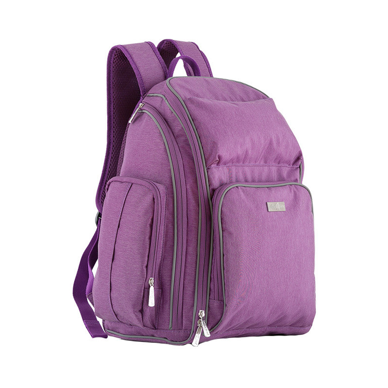 Nappy Changing Bag Maternal Shoulder Brand New Baby&Mother Diaper Bags Mummy Backpacks Large Capacity Mother Backpack,Purple,Red