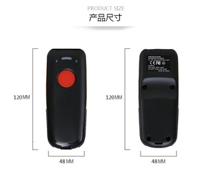Image 5 - Scanhero Pocket Wireless Bluetooth Barcode Scanner Laser Portable Reader Red Light CCD  for IOS Android Windows