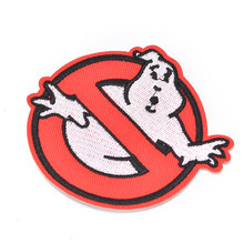 New Ghostbusters No Ghost Movie Comics Logo Kid Baby Jacket T shirt Iron on Patch Embroidered Symbol Badge Cloth Sign Costume(China)