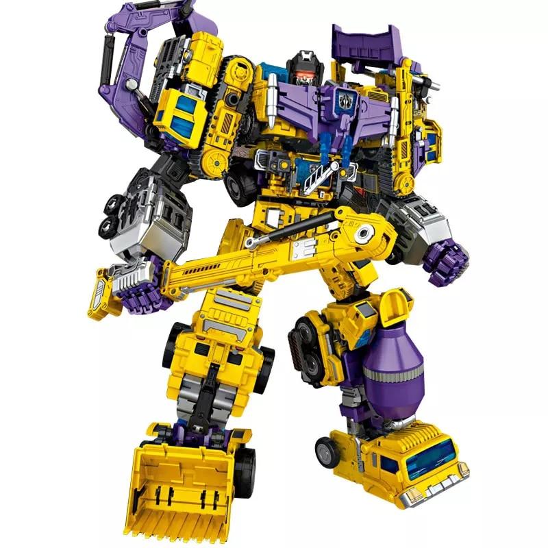 6 in 1 IN-STOCK NBK Transformation Robot Ko Version Gt Scraper Of Devastator Action Figure ToysOutdoor Beach цена
