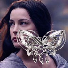 Lord Rings Hobbit Arwen Kupu-kupu Pin Payudara Twilight Bintang Perhiasan(China)
