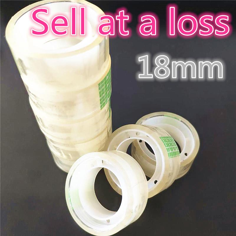 18mm Small Office S2 Transparent Tape Students Adhesive Tape Packaging Supplies Drop Shipping Free Shipping Russia