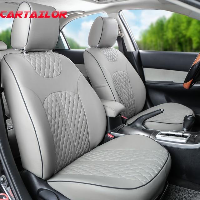 CARTAILOR Auto Seat Portector PU Leather For Kia Sorento 2013 2015 Covers Custom Fit Car