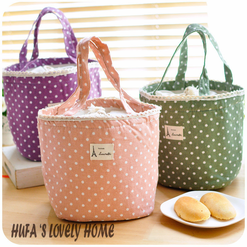 Lovely insulated lunch bag warmer bag cooler bag isothermic bag with 5 different colors