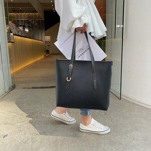 Image 2 - Moda 2 setleri pu deri lüks çanta kadın çanta tasarımcı çantaları yüksek kaliteli kadın omuzdan askili çanta ana kesesi