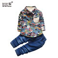 Spring Baby Clothing Sets Gentleman Toddler Boy Roupas Infant Graffiti jeans Denim pant Boy Clothes suit Newborn kids clothes