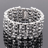 The New 316L Stainless Steel 35mm Huge Heavy Solid Silver Men S Skeleton Skull Bracelet Ghost