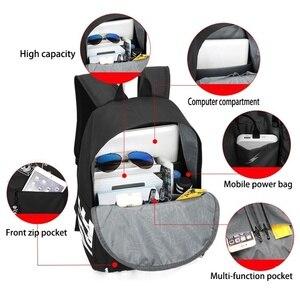 Image 2 - AJAX Student School Backpack Teenage Girl Boys Bookbag USB Anti theft Laptop Canvas Waterproof Backpack for Men