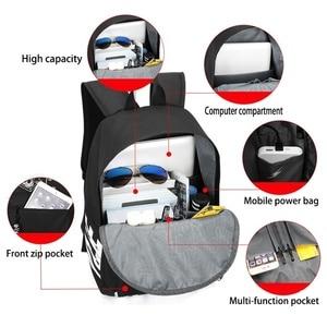 Image 2 - Ajax estudante escola mochila adolescente meninos bookbag usb anti roubo portátil lona impermeável mochila para homem