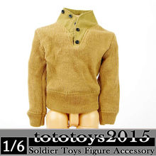 Dragon 1/6 Scale Clothing Models WWII US Army Yellow Sweater Jacket Coat Clothes
