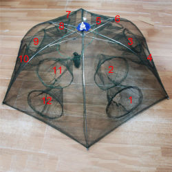 Strengthened 4 16 holes automatic fishing net shrimp cage nylon foldable crab fish trap cast net.jpg 250x250