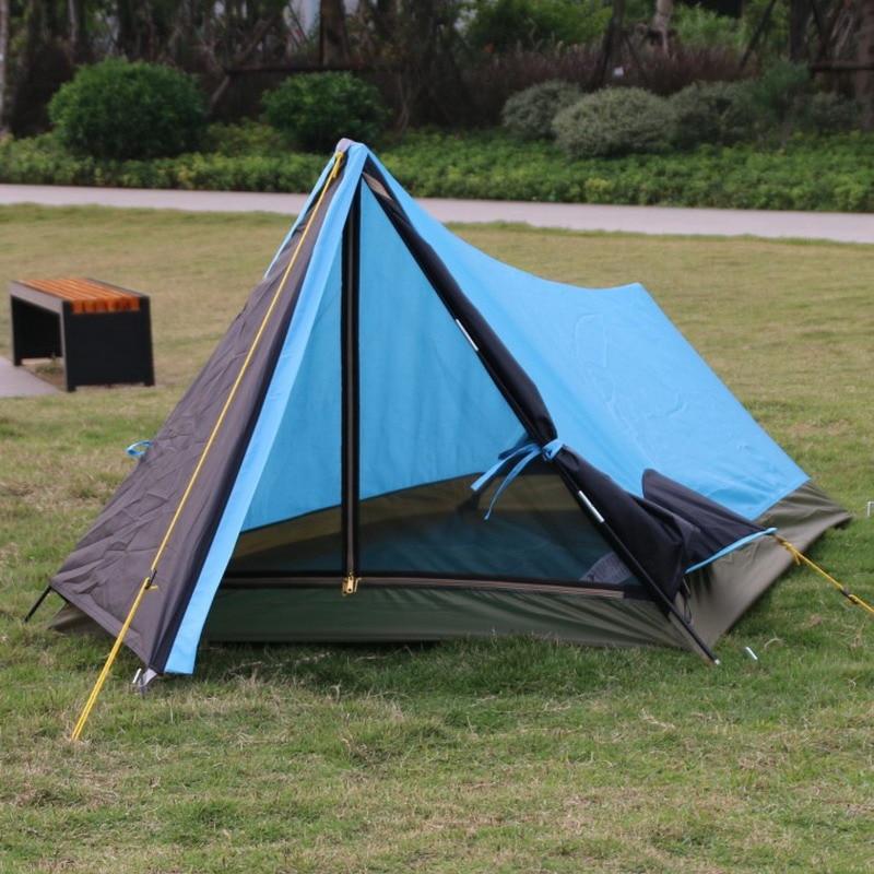 Basspro autentico outdoor tenda da campeggio Singolo Polo di Carbonio Singhle lelayer tenda a piedi attraverso l'apparecchiatura solo colore blu ora