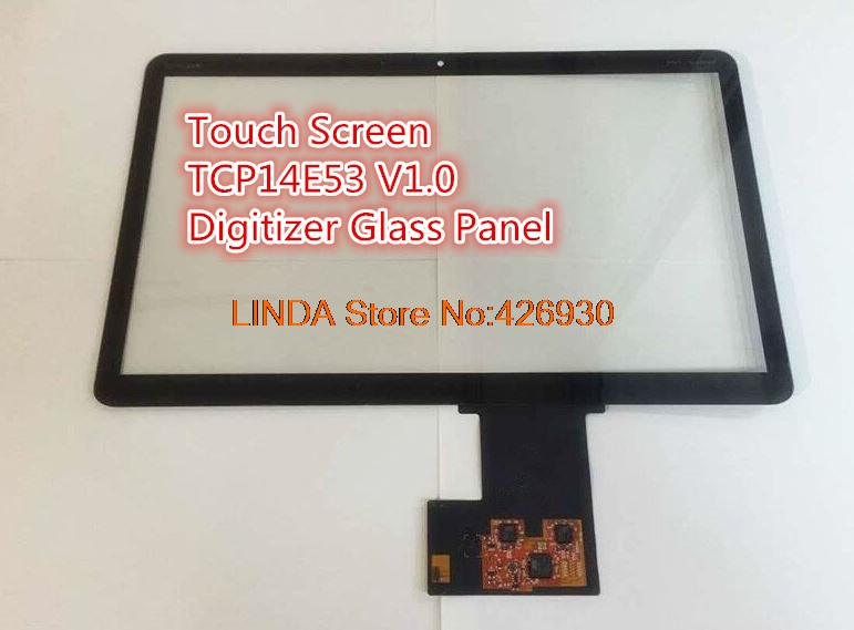 Laptop Touch Screen For HP For Envy 4-1000 TCP14E53 V1.0/V2.0 Digitizer Glass Panel brand new lcdoled original new 14 laptop touch screen glass lens panel digitizer replacement repair parts for hp envy notebook 14 u213cl