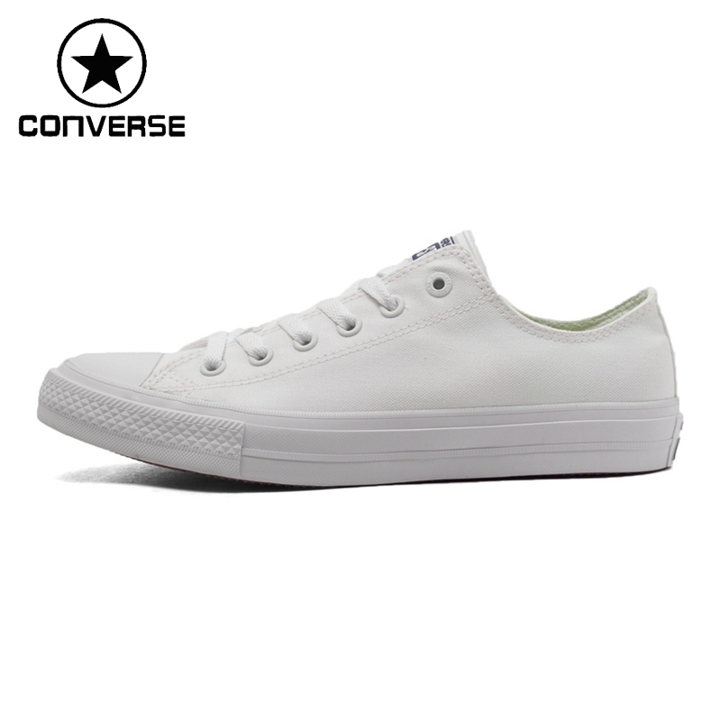 Original New Arrival 2018 Converse Chuck Taylor ll Unisex Skateboarding Shoes Canvas Low top Sneakers ...