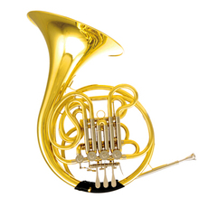 Musical instruments Double-row French Horn F/Bb 4 Valves French horn Fixed Bell Yellow Brass Body Lacquer 2015 new jazzor 4 key double french horn entry model bb f wind instruments french horns jzfh e310 monel valves with padded box