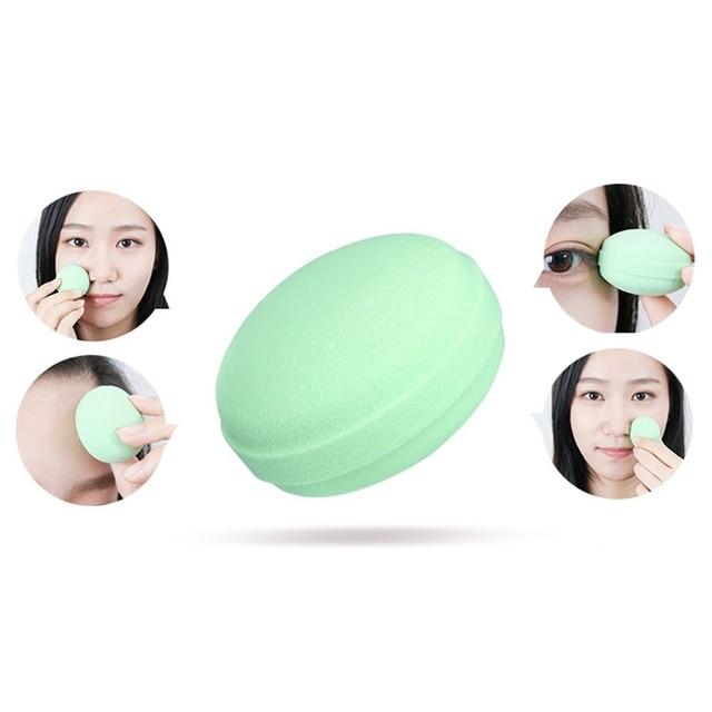 Beauty Sponge 6Pcs/Set Macarons Foam Cosmetics Makeup Blender - For Liquid Foundation, Concealer, Cream, Powder, Blush 3