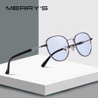 MERRYS DESIGN Men/Women Fashion Blue Light Blocking Glasses Retro Oval Optical Frames Eyeglasses S2089
