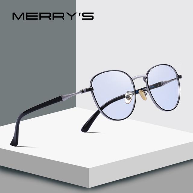 MERRYS дизайн для мужчин/для женщин Мода синий свет блокировка очки ретро Овальный оптическая оправа для очков S2089