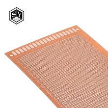 Placa de circuito de placa de cobre de baquelita, prototipo de un lado, placa Universal Experimental, amarilla, 9x15, 9x15cm, 1 Uds.
