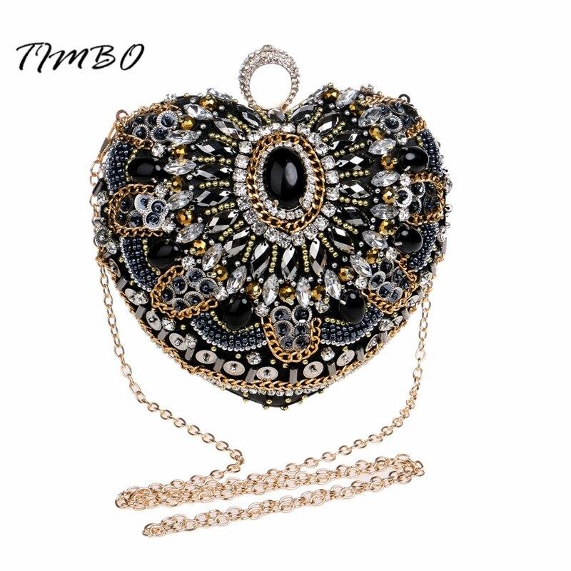 Nueva Forma de Corazón Negro Moldeado Knucklebox dedo anillo de Cristal Satinado