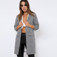High Quality Winter Jacket Women New Fashion Plaid Autumn Coat Bomber Jacket Casual Women Tops Plus Size Open Stitch