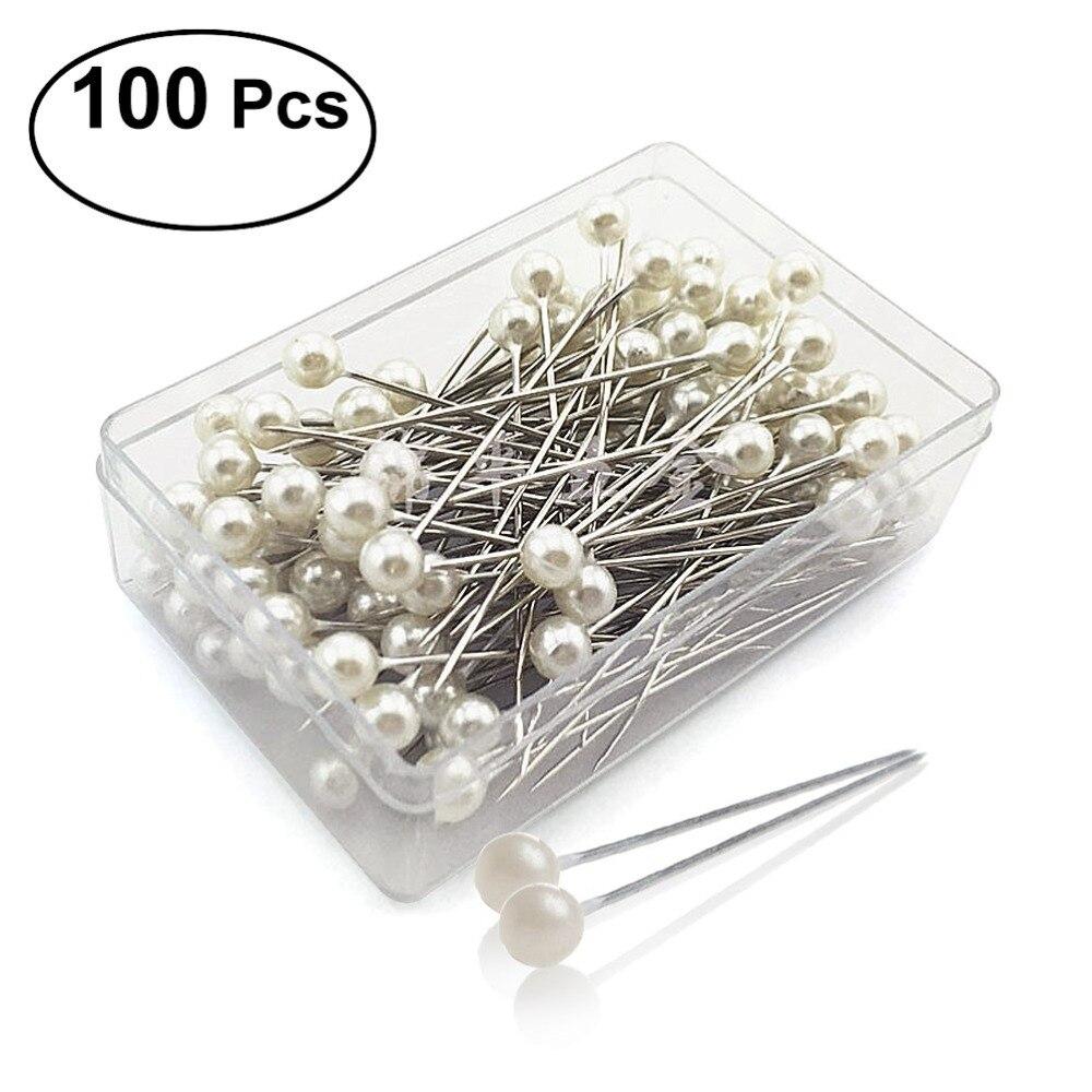 Us 1 88 36 Off 100pcs Pear Ball Head Pins Shawl Scarf Dressmaking Decorating Pins Sewing Pin Diy Crafts Tool In Pins Pincushions From Home