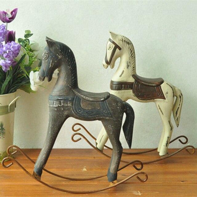 Zakka epicerie, cheval à bascule bois nordique,