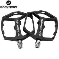 ROCKBROS Cycling Bike Bicycle Ultralight Bearings Bike Pedals MTB Nylon Pedals Durable Widen Area Bicycle Bike Part Brompton