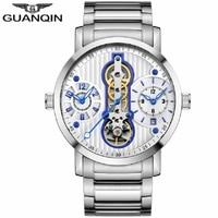 GUANQIN New Men's sport Watch Top Brand Tourbillon Automatic Watch men 2018 Calendar Waterproof Swimming Mechanical Watches