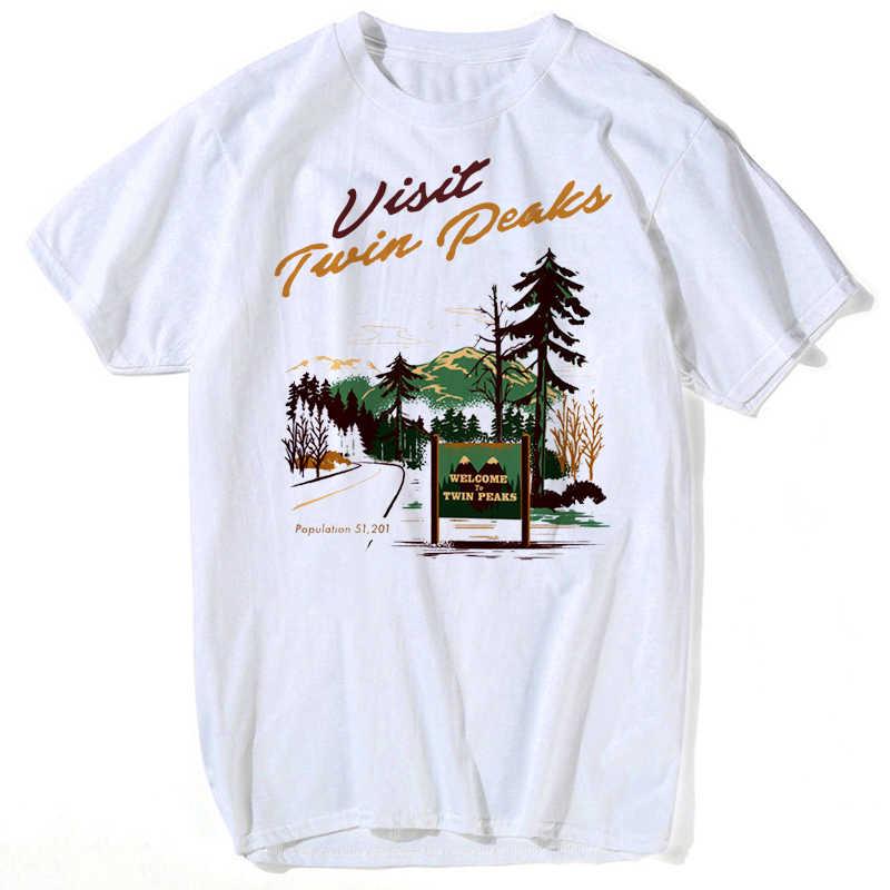 Twin Peaks Männer T shirt Retro Laura Palmer Feuer Spaziergang Mit Mir Gedruckt T-Shirts Hipster wummer frauen männer tops tees plus größe s-xxxl