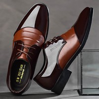 Pointed Toe Men Dress Shoes - Leather Oxford Formal Shoes For Men 2