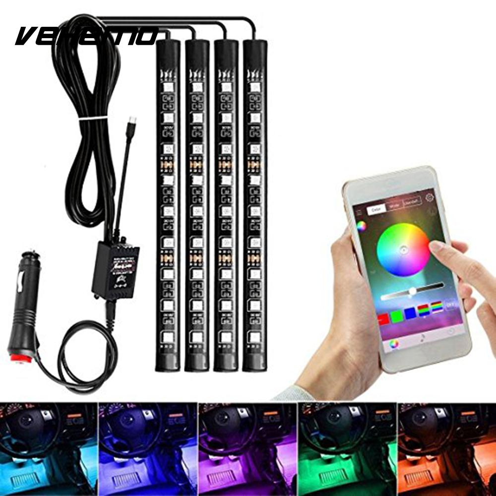 Vehemo rgb app super bright durable led string home decor - Automotive interior led light strips ...
