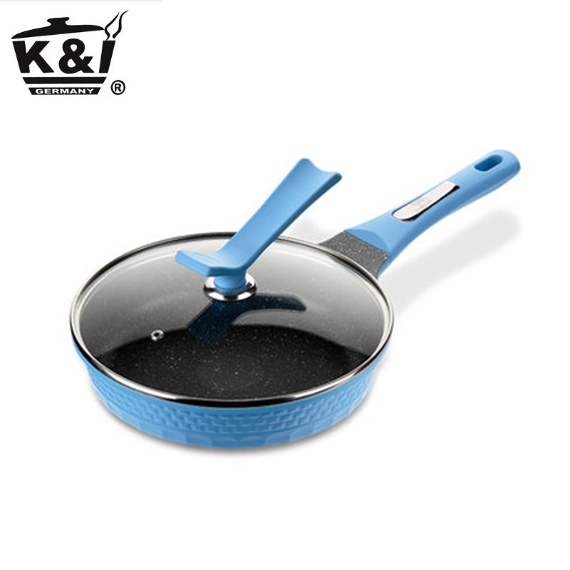 Non-stick pan without frying pan frying pan with induction cooker gas universal frying pan  K&I-JP1826 edtid multifunctional electric cooker mini heat pan students hot pot without oil fume nonstick frying pan special offer