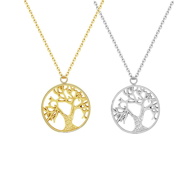 Online shop round chakra tree of life pendant necklace norse tree round chakra tree of life pendant necklace norse tree runes amulet talisman jewelry gold color statement necklaces pendants aloadofball Image collections