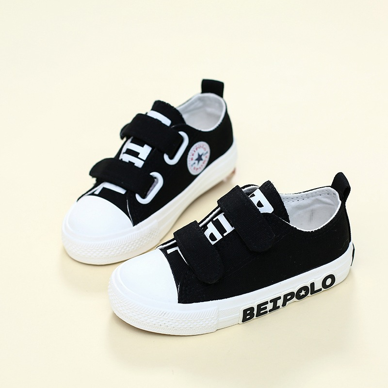 Hook&Loop fashion canvas children casual shoes Cow muscle cool baby girls boys sneakers Fantastic solid kids toddlers